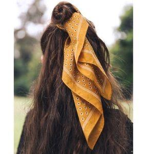 Daisy Hair Scarf in Mustard